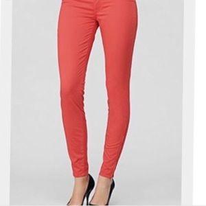 Free People Skinny Coral Jeans